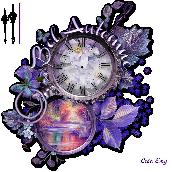 Horloge Automne pour flash