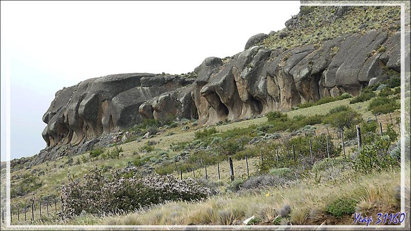Formation géologique : les éléphants de pierre - Région d'El Calafate - Patagonie - Argentine