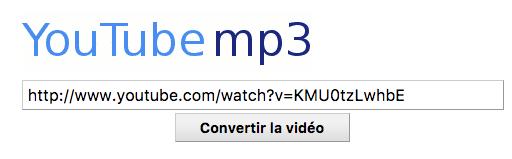 Youtube vers mp3
