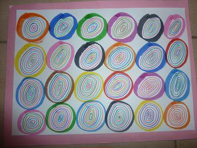 """Idée Pinterest : """"réalisations artistiques autour du rond"""""""