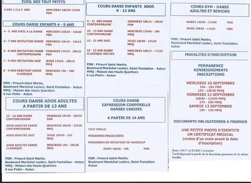 Horaires des cours 2014/2015