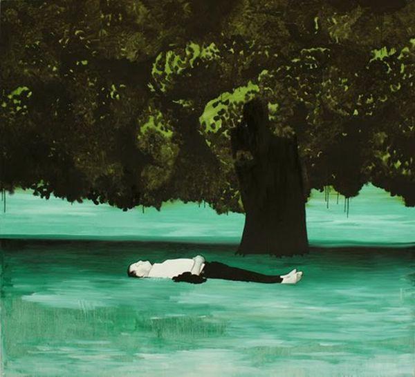 Wilhelm Sasnal's Contemporary Paintings   Trendland: Fashion Blog & Trend Magazine Peinture Contemporaine, Art Contemporain, Dessin Stylo, Tableau Peinture, Impressionnisme, Vert, Personnages, Paysage, Artistes Contemporains
