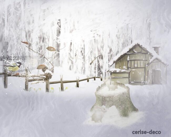 design hiver ou neige