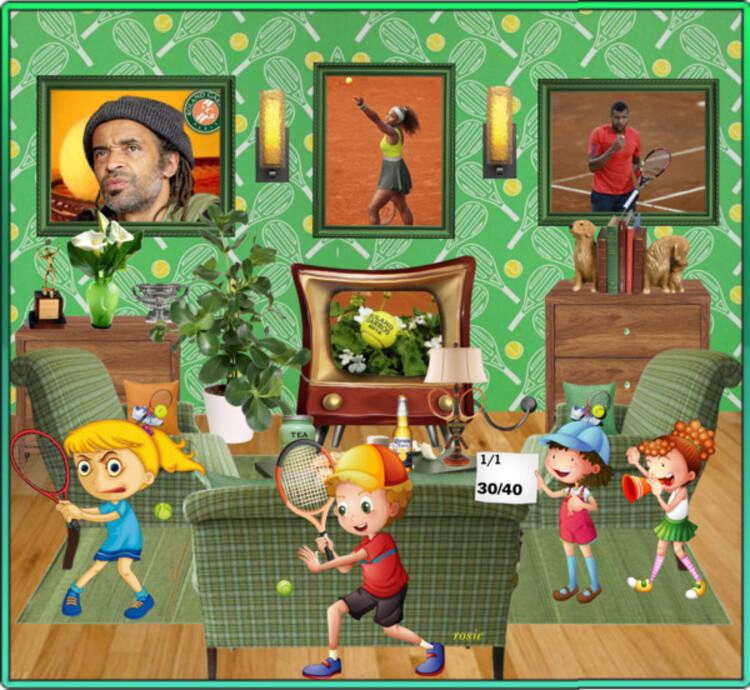 Roland-Garros dans mon salon (créa  défi pour Anastasia)
