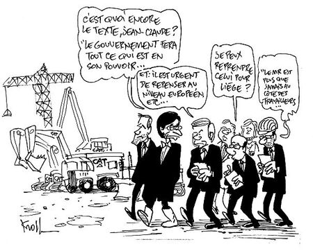 Les politiciens et la crise : Caterpillar, Mittal, Ford....