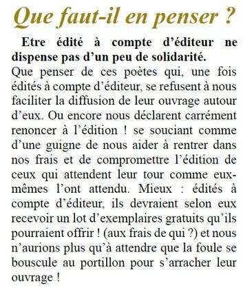 Éditions  compte d'éditeur
