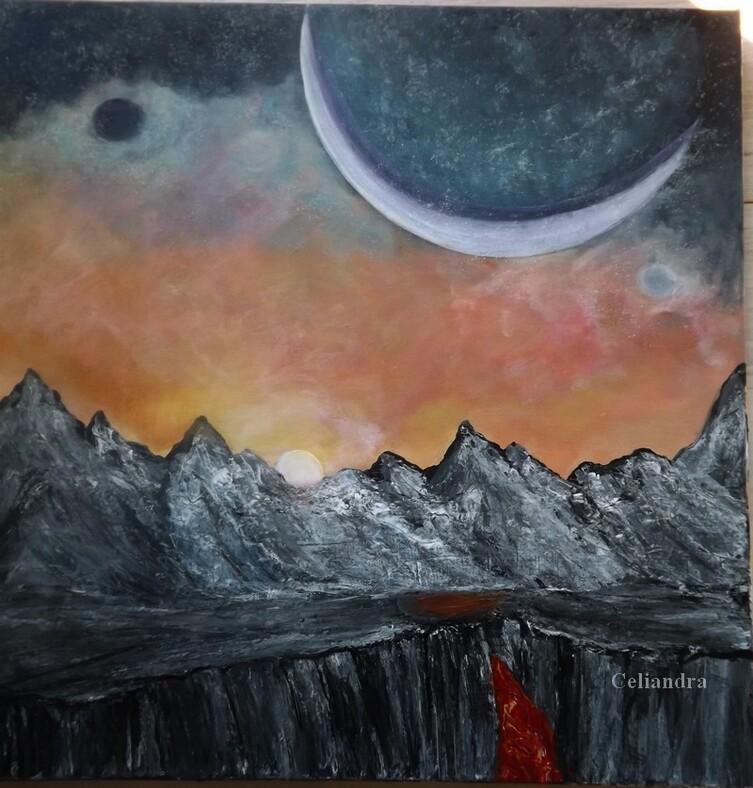 Peinture:Monde inconnu