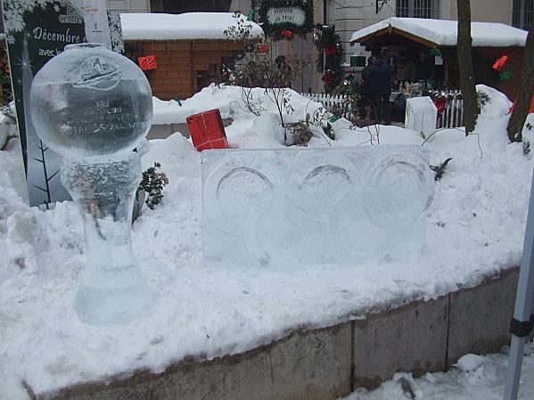 Mireille Belle, sculpteuse sur glace