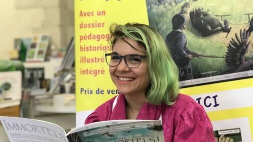 Camille Ledigarcher, scénariste et illustratrice originaire des Hauts-de-Seine, est l'autrice de la BD « Immortels! », qui a été dévoilée puis dédicacée samedi 12octobre, au château des Ducs, à Nantes.