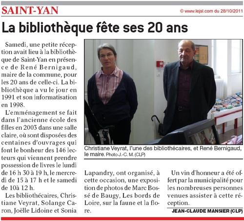 Bibliothèque a 20 Ans