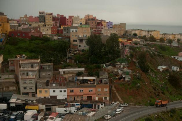 Vue du quartier d'El Principe, à Ceuta, le 3 décembre 2014