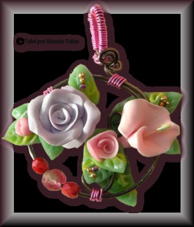 Tube fleur en porcelaine 2975