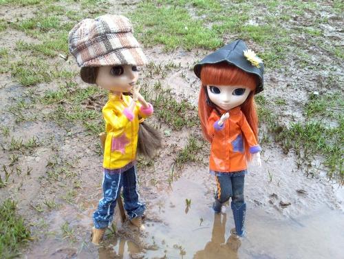 Sous la pluie...