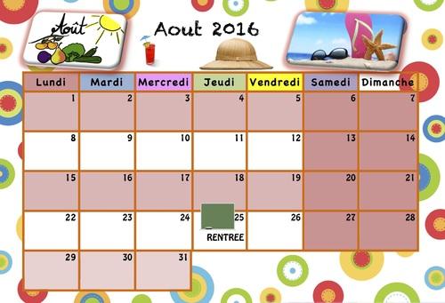 Calendrier pour les enfants 2016/2017