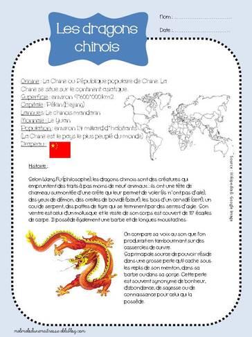 Les arts autour du monde : Les dragons chinois