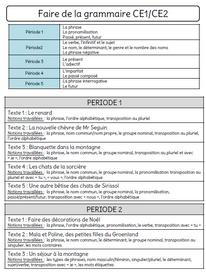 Faire de la grammaire au CE1/CE2
