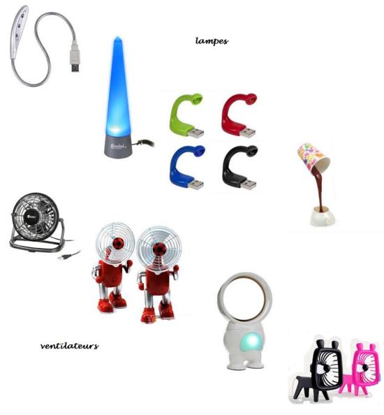 lampes et ventilateurs USB