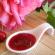 Confiture cerises rose gingembre