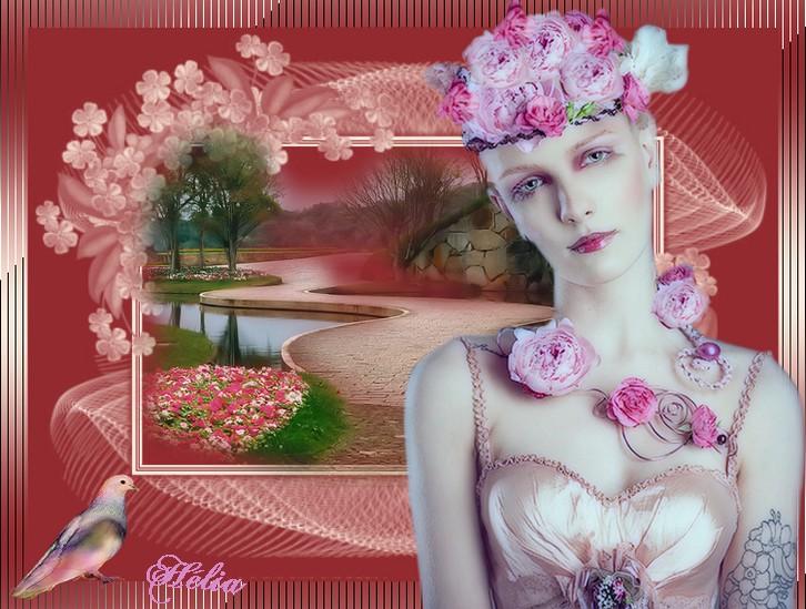 femmes aux roses