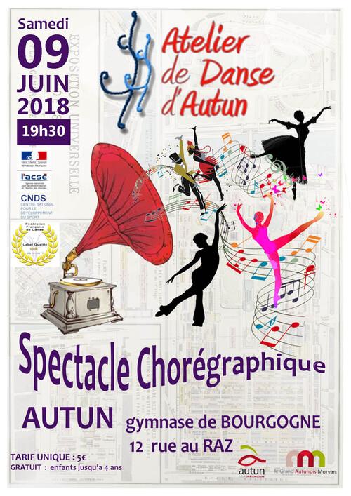 SPECTACLE CHOREGRAPHIQUE 09 JUIN 2018 GYMNASE DE BOURGOGNE