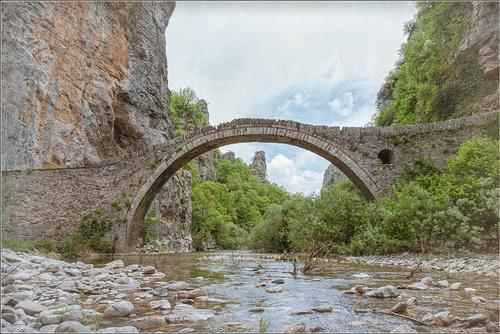 Grèce, le pont Alexis Moutsos
