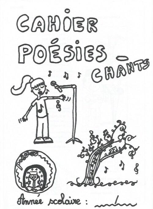 Dernière page de garde : Le cahier de poésies - chants.