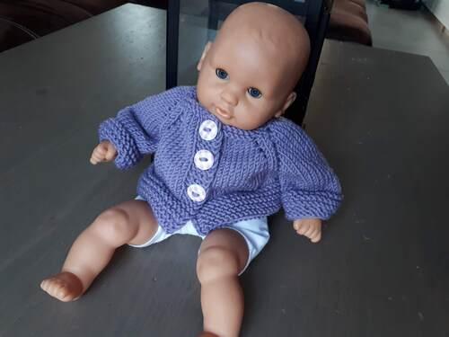 Mylène - Tricot : Gilet pour poupée