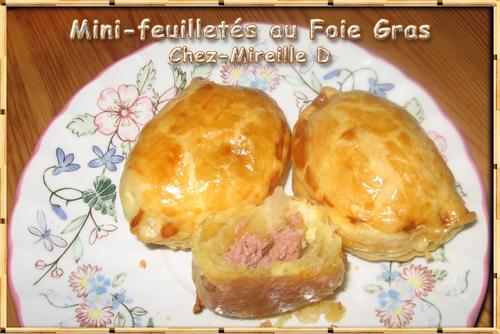 Mini-Feuilletés au Foie Gras