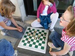 Première séance d'échecs