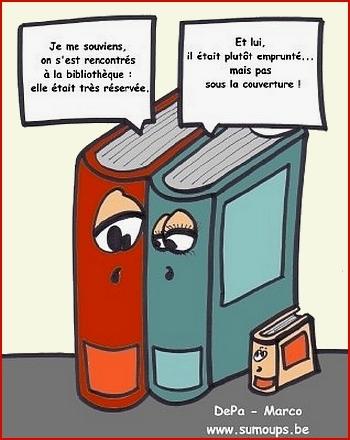 Livres et jeux de mots.