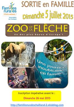 Sortie des Familles 2015 avec Familles Rurales Chailland