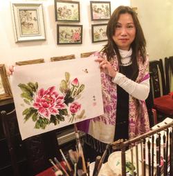 Sok Yong Yan ou L'Art de peindre des fleurs...