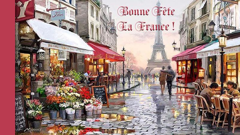 fond écran fête de la France