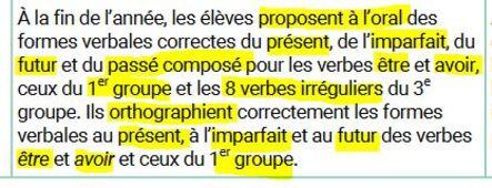 Ce1 Programme De Conjugaison 2019 Bienvenue Chez Les P Tits