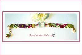 Bracelets Tissu Liberty et Cristal