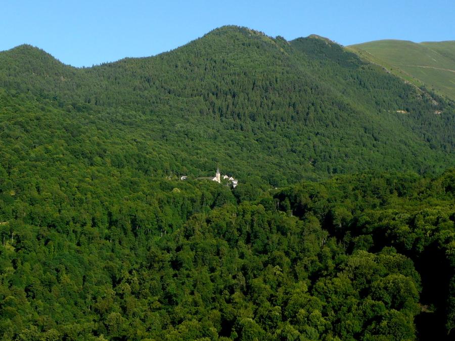 Balade dans la vallée en face de notre gite! Toujours Ariège 2008.