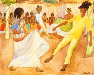 Diego Rivera... Baile En Tehauntepec
