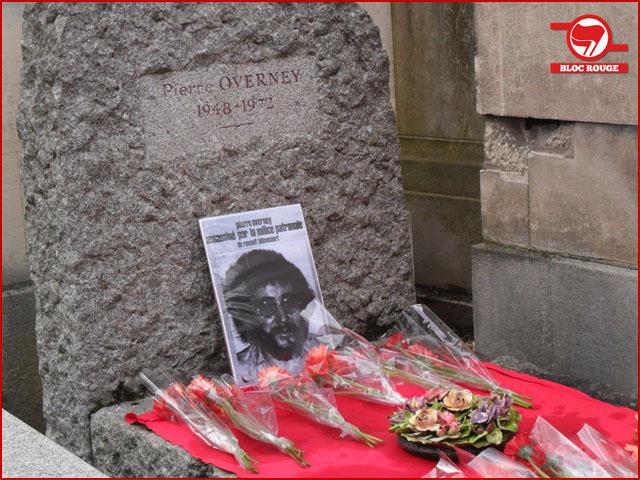 Quelques photos de l'hommage à Pierre Overney (militant maoïste assassiné par un chien de garde du Capital le 25 février 1972)