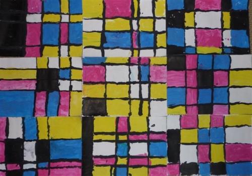 A la manière de Mondrian