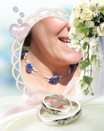 Bijoux de mariée réalisés par Sylvie Le Brigant - Parure de mariage - Bijoux mariage