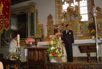 Mariage à l'église de Locquémeau en 2005