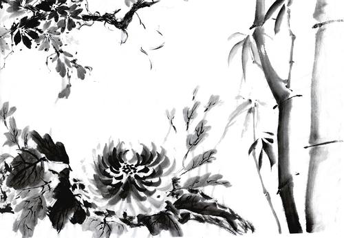 Peinture chinoise à l'encre de Chine
