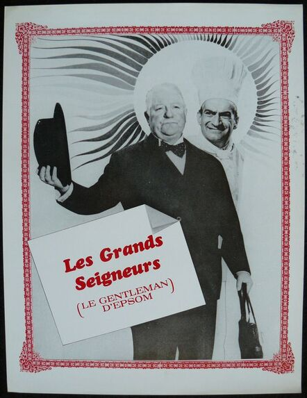 LE GENTLEMAN D' EPSOM -  LOUIS DE FUNES BOX OFFICE 1962