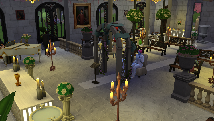 Sims 4 : le mariage d'Hugo Bivouack  et Opale Nolo scandale dans la famille