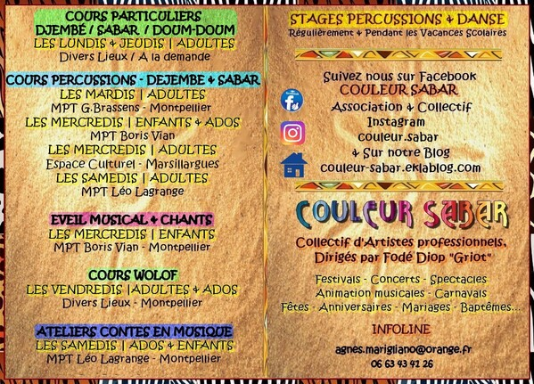 ★ Cours de Percussions [Lundis - Mardis - Mercredis - Samedis]