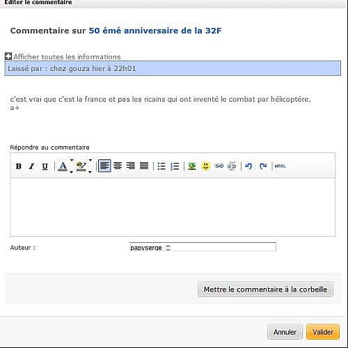 page commentaire over
