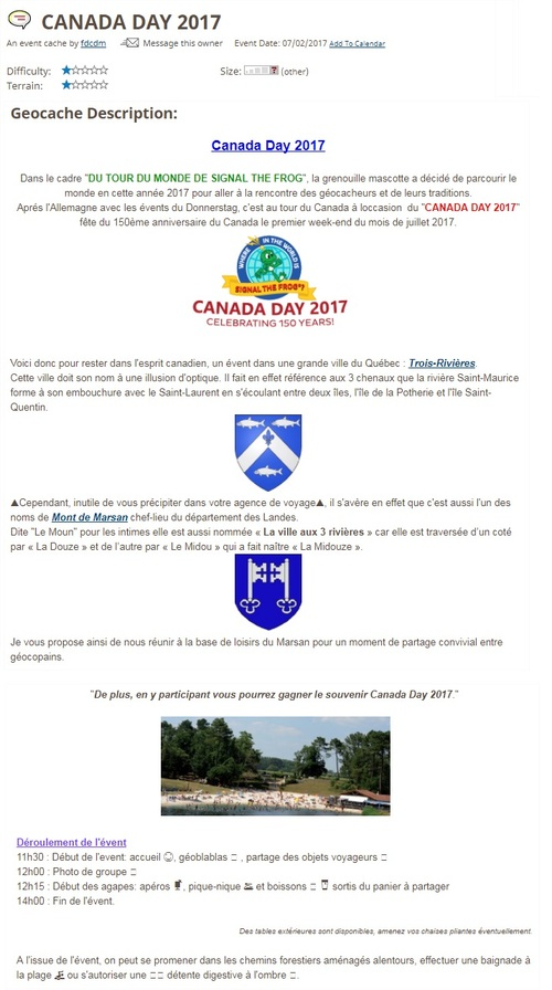 2 juillet 2017 - CANADA DAY 2017