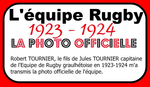 - L'équipe de rugby 1923-1924