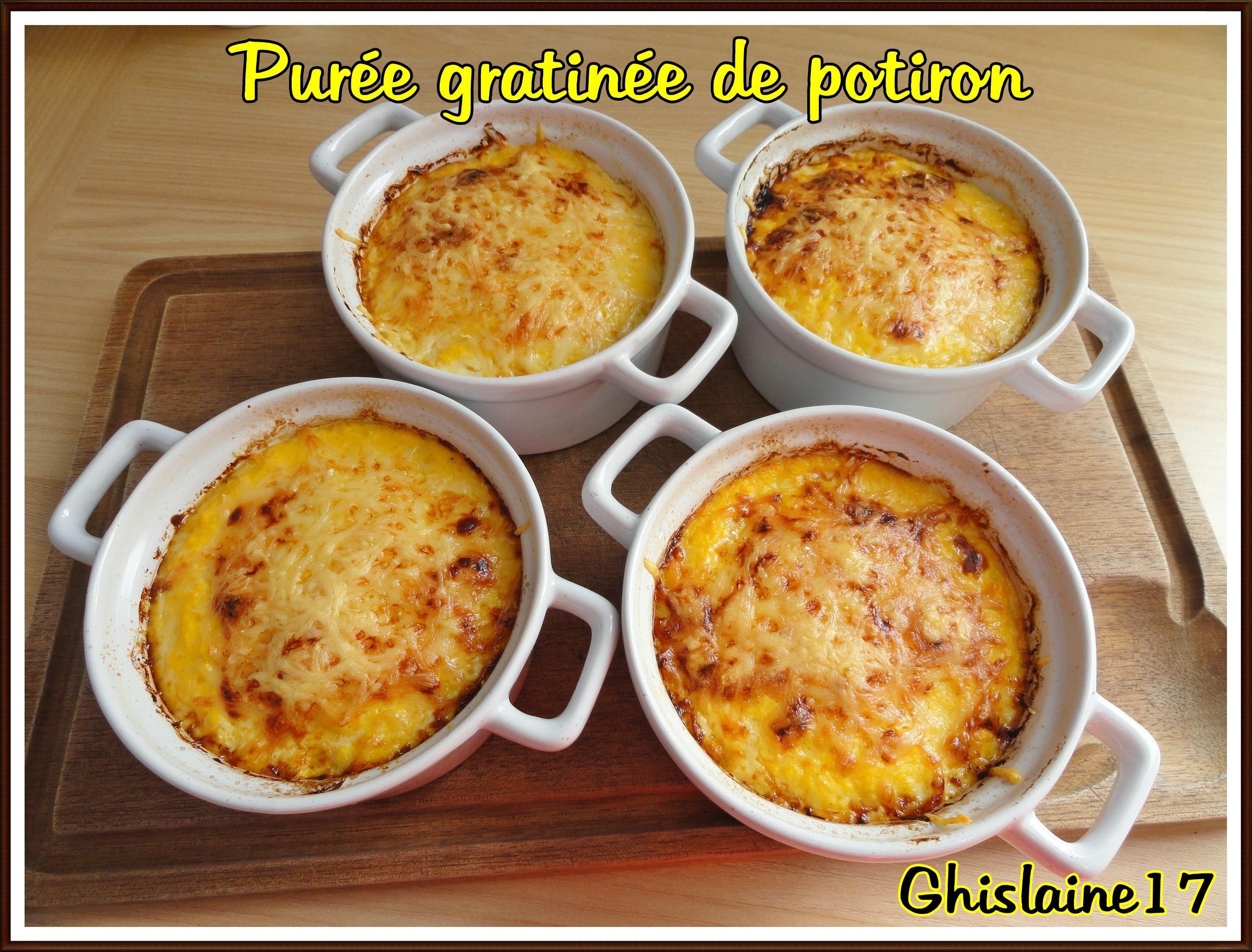 Populaire Purée gratinée de potiron (accompagnement d'une cuisse de poulet  YM74