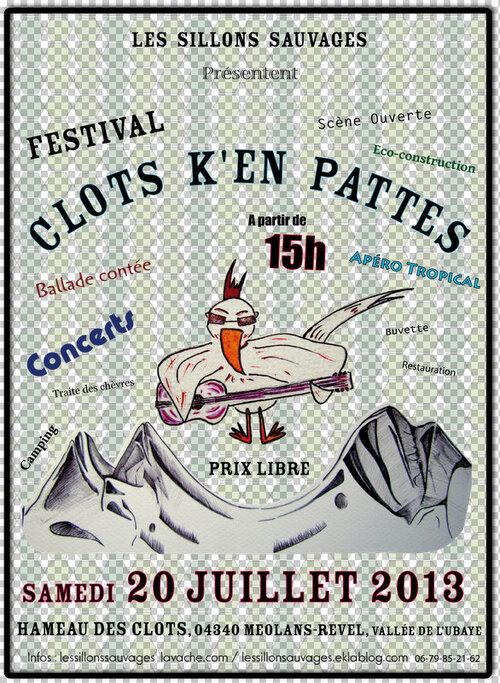 20 Juillet, Festival Clots K'en Pattes, Méolans Revel